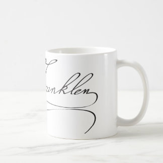 Signature of Founding Father Benjamin Franklin Coffee Mug