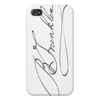 Signature of Founding Father Benjamin Franklin iPhone 4/4S Cover
