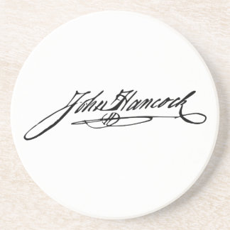 Signature of Founding Father John Hancock Drink Coaster