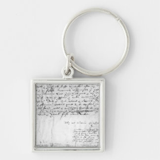 Signature of William Shakespeare , 1616 Keychain