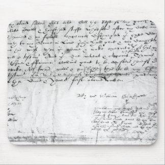 Signature of William Shakespeare , 1616 Mouse Pad