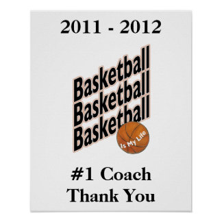 Signature Poster for #1 Basketball Coach