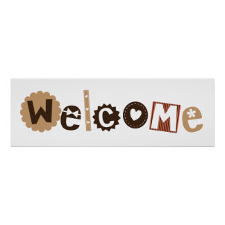 Signe bienvenu pour la pièce d'enfants poster