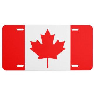 Signe canadien de plat de carte grise de drapeau plaque d'immatriculation