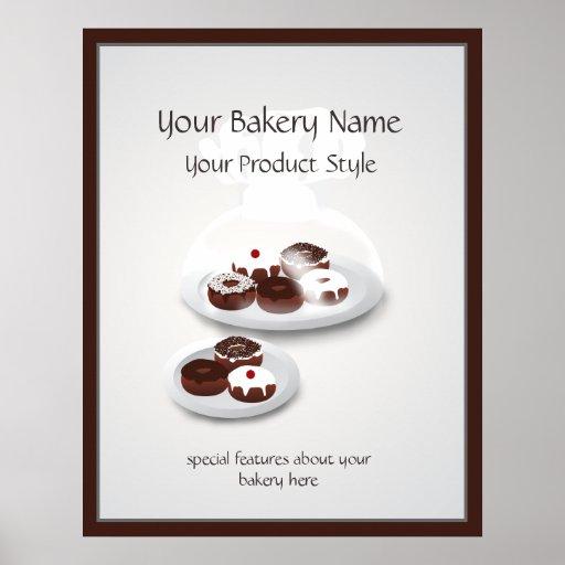 Signe d'atelier de boulangerie de beignet posters