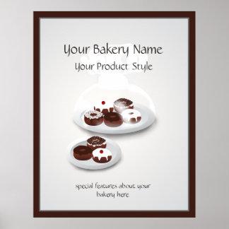 Signe d'atelier de boulangerie de beignet poster