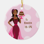 Signe de Baker in/out Ornement Rond En Céramique