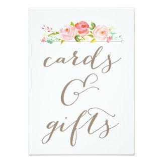 Signe de cartes et de cadeaux de mariage de carton d'invitation  12,7 cm x 17,78 cm