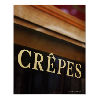 Signe de crêpes Paris Posters