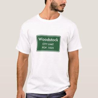 Signe de limite de ville de Woodstock Alabama T-shirt