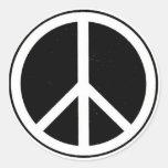 Signe de paix adhésifs ronds