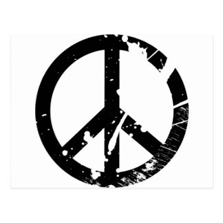Signe de paix carte postale