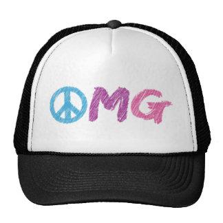 signe de paix d'omg casquettes de camionneur