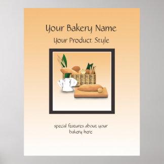 Signe de plancher de boulangerie de pain poster