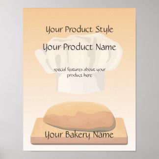 Signe de produit de boulangerie de pain affiches