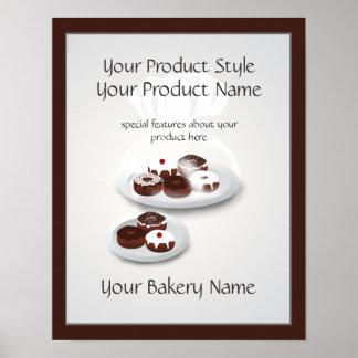 Signe de produit de magasin de Baker de Poster