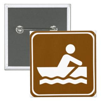 Signe de route d aviron badges avec agrafe