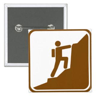 Signe de route d escalade badge