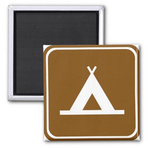 Signe de route de camping magnets pour réfrigérateur