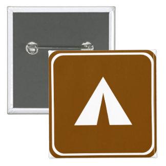 Signe de route de camping badges