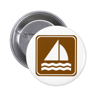 Signe de route de navigation badges avec agrafe