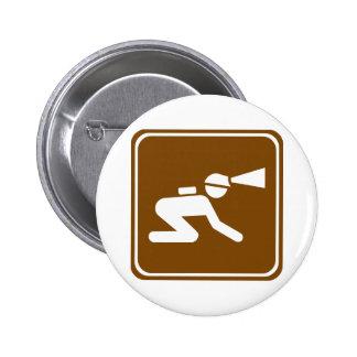 Signe de route de spéléologie badges avec agrafe