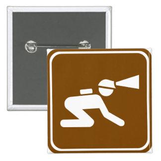 Signe de route de spéléologie pin's