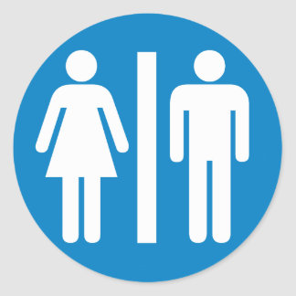 Signe de route d'équipements de toilettes autocollants ronds