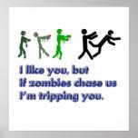 Signe de voyage de zombis affiches