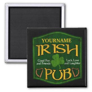 Signe irlandais personnalisé de Pub Magnets