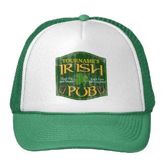 Signe irlandais personnalisé de Pub Casquette