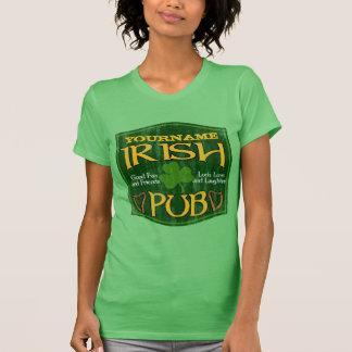 Signe irlandais personnalisé de Pub T-shirt