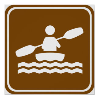 Signe Kayaking de route Poster
