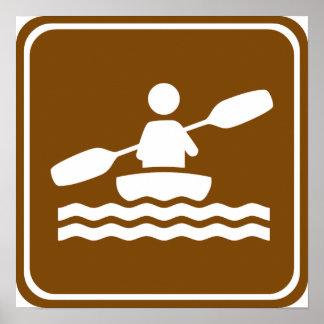 Signe Kayaking de route Poster
