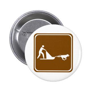 Signe sledding de route de chien pin's