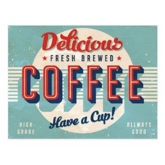 Signe vintage - café préparé frais carte postale