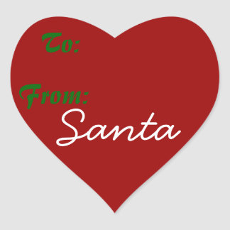 Signed by Santa! Heart Sticker