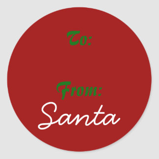 Signed by Santa! Round Sticker