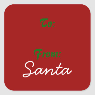 Signed by Santa! Square Sticker