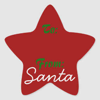 Signed by Santa! Star Sticker