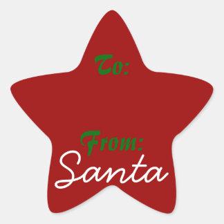 Signed by Santa! Star Sticker