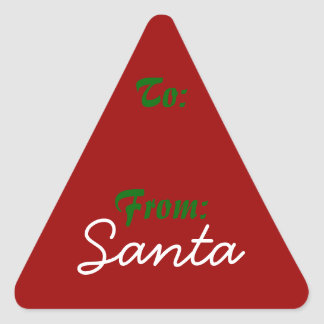 Signed by Santa! Triangle Stickers