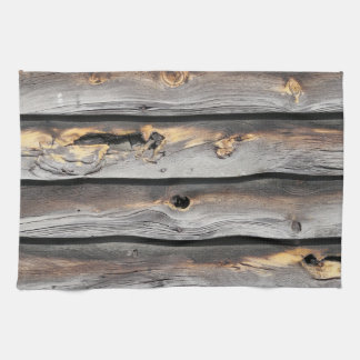 signed by the weather as old wood background kitchen towel