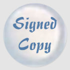 Signed Copy - Round Stickers (#32)