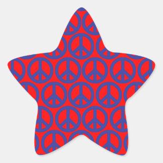 Signes de paix stickers en étoile