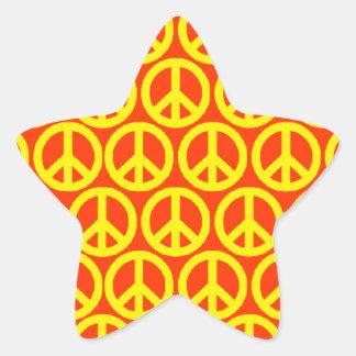 Signes de paix autocollant en étoile