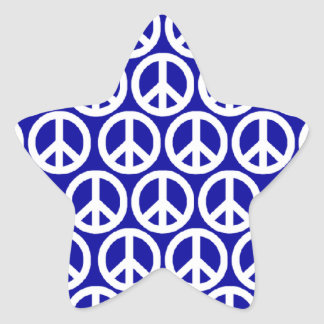 Signes de paix autocollants en étoile
