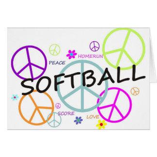 Signes de paix colorés par base-ball carte de vœux