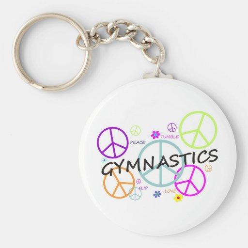 Signes de paix de gymnastique porte-clefs