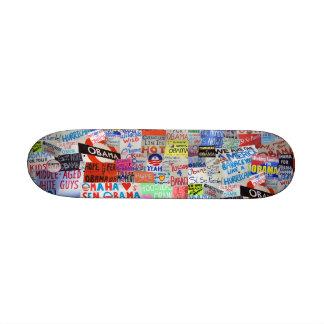 Signes d'Obama de planche à roulettes d'espoir Plateaux De Skateboards